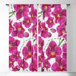 Fuchsia Pink Moth Orchids Blackout Curtain