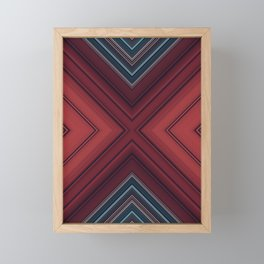 Red Floor Framed Mini Art Print