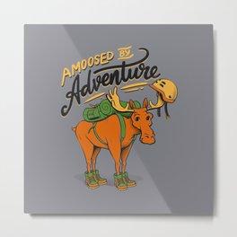 Amoosed by Adventure Metal Print