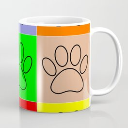 Puppy Paws In Squares Coffee Mug