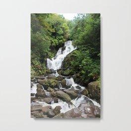 Irish Waterfall Oil Finish Metal Print