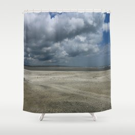 Dramatic Sky Over Golden Isles Beach Shower Curtain