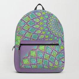 Purple Spirograph Mandala 0118 Backpack