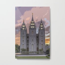 Salt Lake Temple - Photoart Metal Print