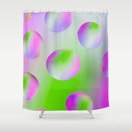 M&Ms on Purple Shower Curtain