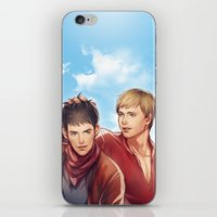 merlin iPhone & iPod Skins featuring Merlin by Drag Me To Work