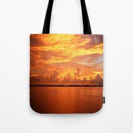 Orange Sunset Tote Bag
