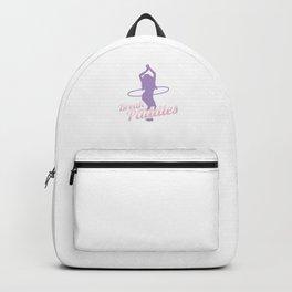 Gymnasts Gymnastics Baton Twirler Hula Hoopers Break And Paddles Funny Gift Backpack