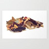 viria Art Prints featuring free sleepovers by viria