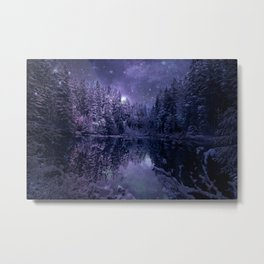 A Cold Winter's Night Metal Print