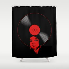 Afrovinyl (Red) Shower Curtain