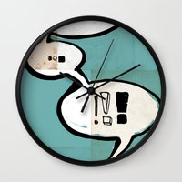 comic book Wall Clocks featuring Comic Book: !!! by Ed Pires