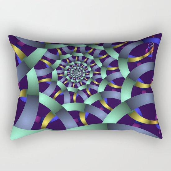 The turquoise spiral Rectangular Pillow