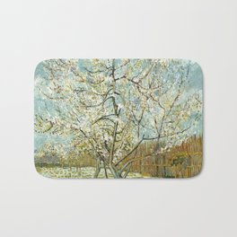 Vincent Van Gogh Peach Tree In Blossom Bath Mat