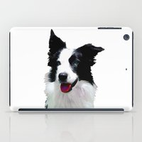 border collie iPad Cases featuring Border Collie by Albert Tjandra