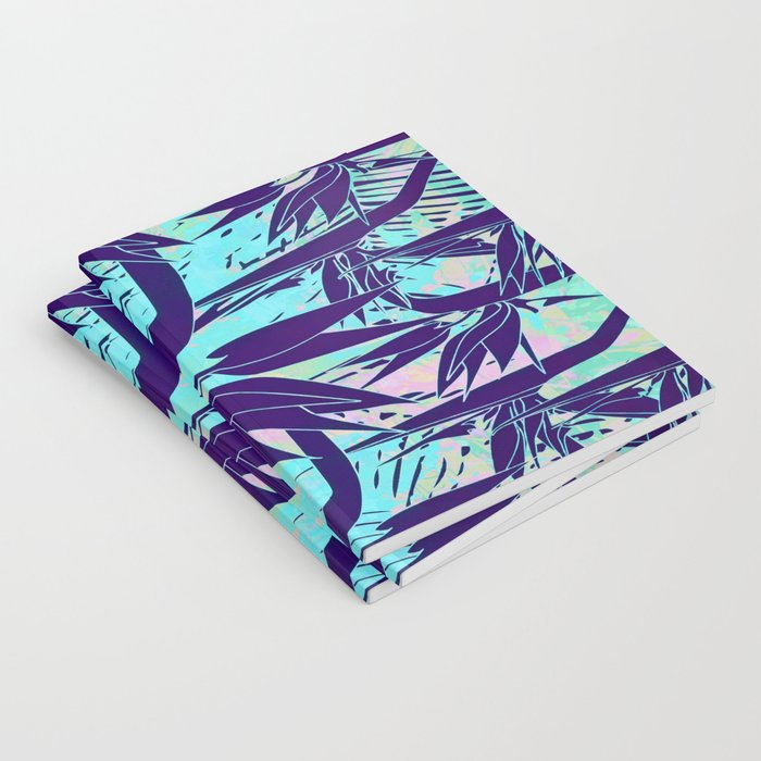 purple birds of paradise notebook by clemm society6