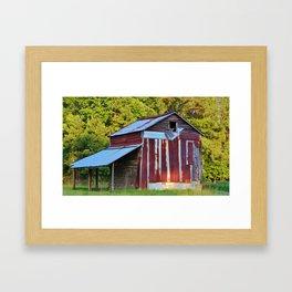 Tobacco Barn Framed Art Print