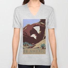See America National Park Poster Unisex V-Neck