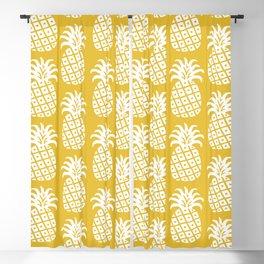 Mid Century Modern Pineapple Pattern Mustard Yellow Blackout Curtain