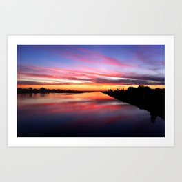 Sunset on the San Diego River Art Print