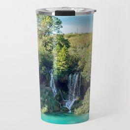 Waterfalls in Plitvice NP - Croatia Travel Mug