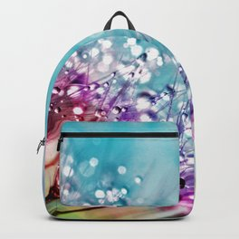 Colorful Floral with Morning Dew Backpack