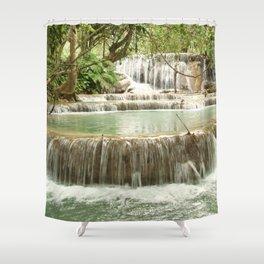 Zen Waterfalls Harmony Shower Curtain