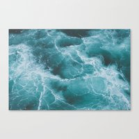 Canvas Prints featuring Electric Ocean by Luke Gram