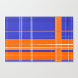 Orange and Blue Plaid Canvas Print