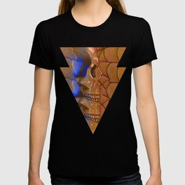 Electric Blue Traditional Skull  T-shirt