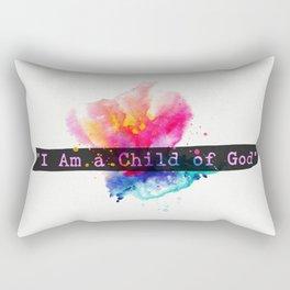 I am child of God. Flower Rectangular Pillow