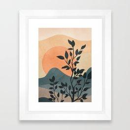 Orange Rising Sun Framed Art Print