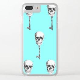 Skull Key Clear iPhone Case