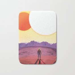 NASA Retro Space Travel Poster #8 Kepler 16b Bath Mat