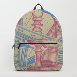 Time Infinity System. Orbit, sandglass, scarab, cicada, mantis. Engraving illustration. Part 1. Backpack