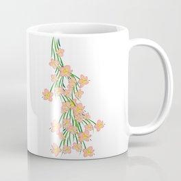 Peachy Pink Floral Coffee Mug