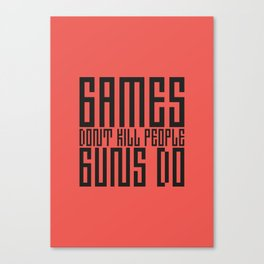 PAUSE – Games don't Kill Canvas Print