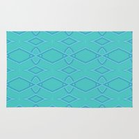 coasters Area & Throw Rugs featuring Abstract Teal Pattern  by Lena Photo Art