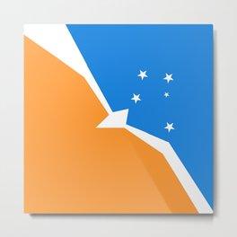 Flag of Tierra del Fuego Metal Print