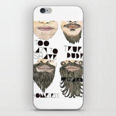 the beard chart of dudeliness iPhone & iPod Skin