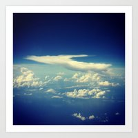 cloud Art Prints featuring  Cloud by Sumii Haleem