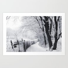 The Snowy Forest Art Print
