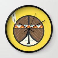 peace Wall Clocks featuring Peace by Wharton