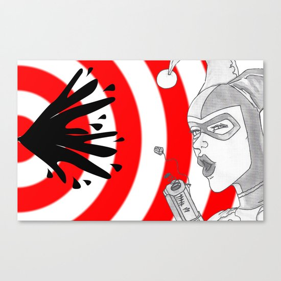Harley Quinn Bullseye Canvas Print