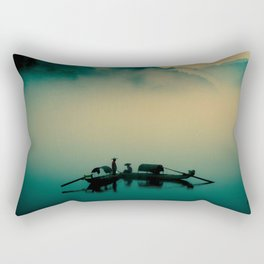 Junk ship Chinese Boat Rectangular Pillow