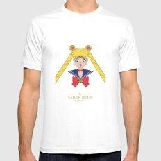 Sailor Moon Mens Fitted Tee White MEDIUM