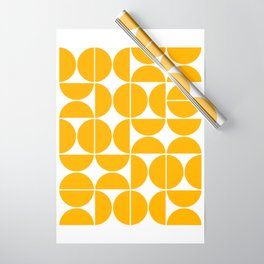 Mid Century Modern Geometric 04 Yellow Wrapping Paper