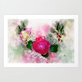 Wreath of flowers Art Print