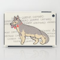 german shepherd iPad Cases featuring The German Shepherd by TangerineCafé