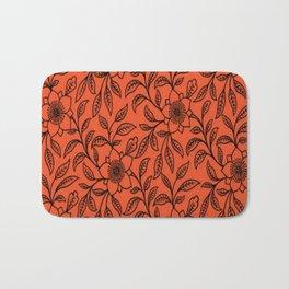 Vintage Lace Floral Flame Bath Mat